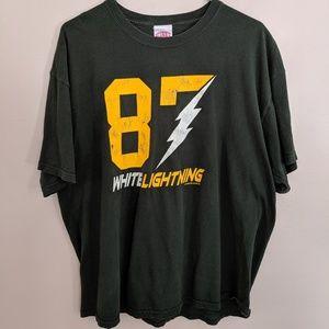 #87 White Lightning Jordy Nelson Sconnie t-shirt